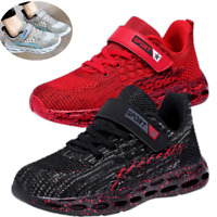 Running Black/Gray US Size 10 11 12 13 1 2 3 4 5 Sneakers Boys Girls Kids Shoes