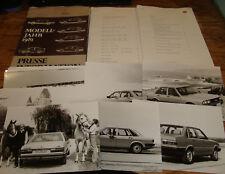 Original 1981 Audi Full Line Media Press Information Kit w 15 Photos + More 81