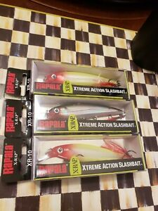 NEW RAPALA X-RAP SLASHBAIT FISHING LURES 3 PC