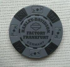 "1 ORIGINALE HARLEY DAVIDSON Fiches da Poker ""Factory FRANKFURT GERMANY"""