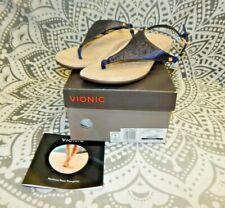 Vionic Kirra Metallic Navy Sandals Size 7.5