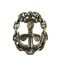 Russian Navy MECHANIC Military Badge Imperial Eagle Brass Screw Back