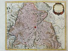 MARIETTE 1703  ALSACE PLAN DE L' EVESCHÉ DE STRABOURG 1703
