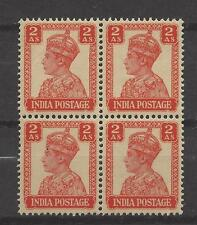 INDIA, BRITISH # 173 MNH KING GEORGE VI  2 ANNA  Block of 4