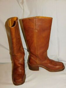 FRYE BROWN LEATHER RIDING BOOTS SIZE 6 1/2M