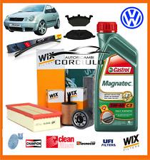 KIT TAGLIANDO OLIO CASTROL + FILTRI+SPAZZOLE+PATTINI FRENO ANT. VW POLO 1.4 TDI