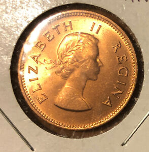 1959 SOUTH AFRICA 1/2 PENNY ELIZABETH II UNCIRCULATED COLLECTIBLE COIN-KM#45