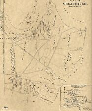 Great River & Sayville NY 1888 Maps with Homeowners Names Shown