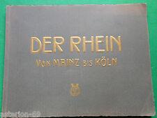 DER RHEIN VON MAINZ BIS KOLN 24 PHOTOS ALLEMAGNE  CA 1910 KARL RUD BREMER