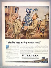 Pullman Train PRINT AD - 1944 ~~ my big mouth ~~ Iran gift-giving customs