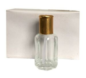 EMPTY ATTAR PERFUME BOTTLES 12ML (BOX OF 12) CLEAR BOTTLES WITH STICKS