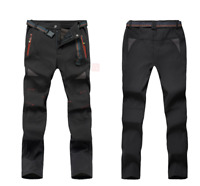 Womens Warm Hiking Ski Pants Fleece Padded Outdoor Windproof  Waterproof Trouser