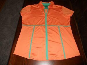 Bette & Court womens golf shirt top size L large MINT cond athletic