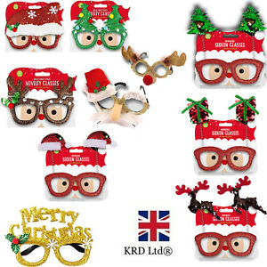 CHRISTMAS GLASSES Specs Novelty Xmas Sunglasses Fancy Dress Party Accessories UK
