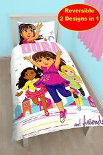 DORA THE EXPLORER ET AMIS SIMPLE ENSEMBLE HOUSSE DE COUETTE 'VILLE GIRL' FILLES