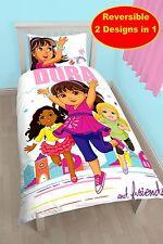 """Nuevo Dora La Exploradora Y Amigos individual duvet cover quilt Set' City Girl """"Chicas"""