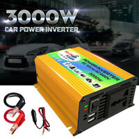 Convertitore Inverter di Potenza 3000W 12V DC a 220V AC Auto Barca Caravan USB