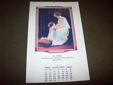 1922 Ed. Novak Advertising Calendar Biscay Minnesota Tractors & Farm Machinery