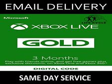 Microsoft Xbox Live 3 Month✔️ Gold Membership Code 360✔️ One✔️ ☆INSTANT☆ Email✔️