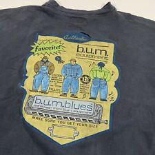 Vintage BUM Equipment Bum Blues Short Sleeve Cut Off Shirt Size XL