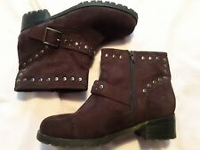 Simply be Studded Brown Ankle Boots Size 6EEE