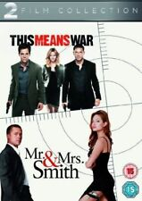 THIS MEANS WAR MR & MRS SMITH TOM HARDY BRAD PITT 2 DISC BOX SET UK 2013 DVD NEW
