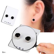 1 Pair Magnetic Non Piercing Clip On Magnet Ear Stud Men Women Fake Earrings 6mm