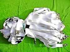 50 x WHITE BLANK LANYARDS NECK STRAPS FOR SUBLIMATION, SAFETY BREAK CLIP 20mm