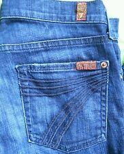 7 Seven for all mankind crop Capri DOJO size 27 Denim Blue jeans EUC