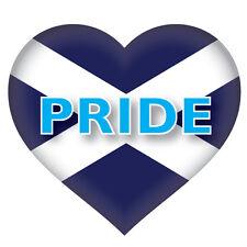 2 x Scottish Pride Heart Saltire Flag, car, van decal sticker