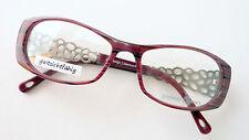 Sonnenbrillen & Zubehör Brille Fassung Blau Seitlich Randlos Musterbügel Metall Damen Pro Design Size M