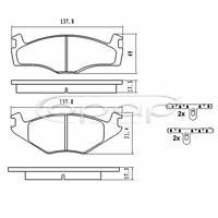 Bremsbelagsatz, Scheibenbremse, Vorderachse für Seat, VW, BB08024