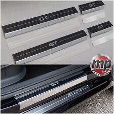 VW Polo Mk5 2009> 5dr Stainless Steel Kick Plate Car Door Sill Protectors - 8pce