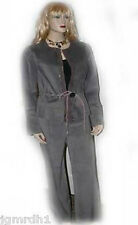 NWT ROZAE NICHOLS gray designer suede leather outfit 2pc pants jacket metallic 8