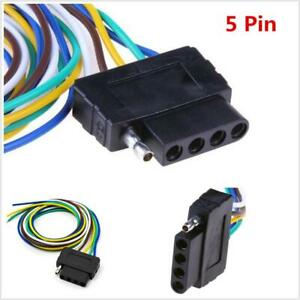 """5Pin Plug Trailer Signal Light Wiring Harness Extension Cable Wire Connector 36"""""""
