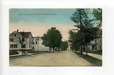 Winchendon MA Mass Maple Street view looking south, homes, 1909 antique postcard