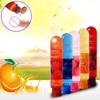 Adulte Corps Lisse Fruité Lubrifiant Gel Comestible Parfum Sexe Santé Produit