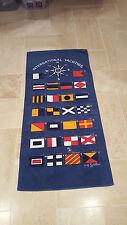 "International Yachting Blue Beach Towel MORSE CODE 32"" x 60"" Bathing SIGNAL FLAG"