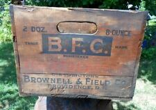 Vintage BFC Tomato Catsup Wooden Crate Box Brownell & Field Co. Providence RI