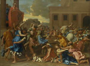 Nicolas Poussin The Abduction of the Sabine Women Giclee Paper Print Poster