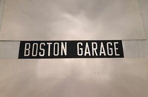 """Boston Garage - Boston & Skegness Bus Blind - 30/3 1980's 31"""""""