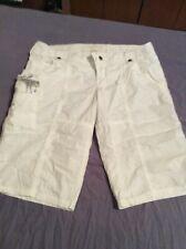 Abercrombie & Fitch White Shorts size Medium     EUC   .....Ff