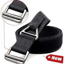 Men's Web Belt Velcro Riggers Tactical Military Nylon Outdoor Security Combat