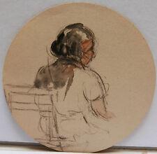 Dessin Original Aquarelle PAUL COUVREUR - Femme De Dos - vers 1930 - PC53