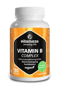 (€44,36/100g) Vitamin B Komplex Tabletten hochdosiert vegan Biotin Folsäure