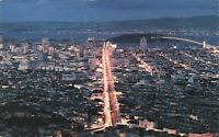 Postcard Night View San Francisco California