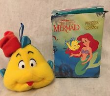 1989 MCDONALD'S DISNEY LITTLE MERMAID FLOUNDER PLUSH ORNAMENT IN BOX