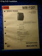 Sony Service Manual WM FQ01 Cassette Player (#4389)