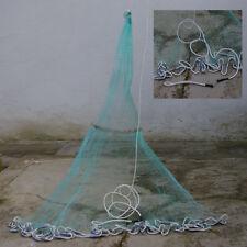 Rezzaglio sparviero 6 mt in  Nylon rete 25mm con anello e tiranti esca vivo