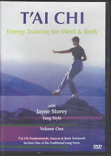 T'AI CHI-(REG 4)-ENERGY TRAINING FOR MIND & BODY-VOL 1-JAYNE STOREY-X COND DVD